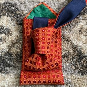 Tommy Hilfiger Orange Tic Tac Toe Pattern Tie